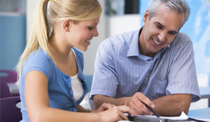 The Grace Tutoring Advantage. A student learns from a tutor